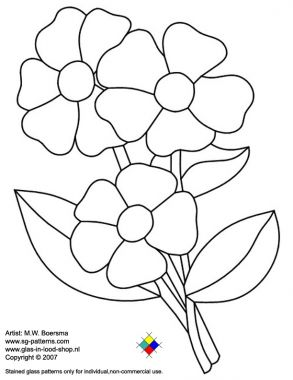 Free Flower Stained Glass Pattern