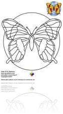 butterfly stained glass pattern
