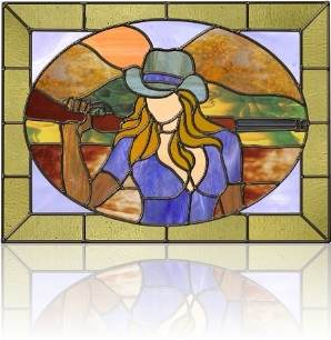 stained glass panel Woman_52
