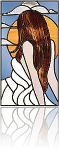 stained glass panel - woman_93